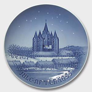 The Kalundborg Church 1955, Bing & Grondahl Christmas plate | Year 1955 | No. BX1955 | Alt. 1902155 | DPH Trading