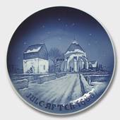 Osterlars Church 1960, Bing & Grondahl Christmas plate