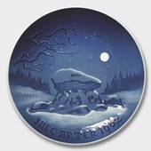 Winter Night, 1962 Bing & Grondahl Christmas plate