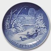 Pheasants at Christmas 1970, Bing & Grondahl Christmas plate