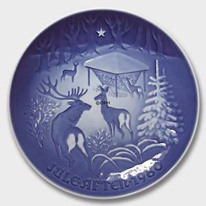 Christmas in the Forest 1980, Bing & Grondahl Christmas plate | Year 1980 | No. BX1980 | Alt. 1902180 | DPH Trading