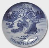 Playing in the snow 2001, Bing & Grondahl Christmas plate