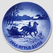 Bringing home the Christmas tree 2005, Bing & Grondahl Christmas plate