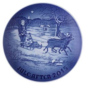 Santas presents 2015, Bing & Grondahl Christmas plate | Year 2015 | No. BX2015 | Alt. 1902215 | DPH Trading
