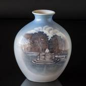Vase with cityscape with fountain (Carlsberg), Royal Copenhagen No. 506