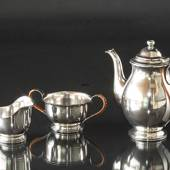 Just Andersen Coffee pot, creamer and sugar bowl