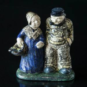 Figurine of Fisher and Fisher's Wife, ceramics, Michael Andersen & Son
