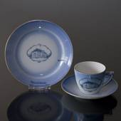 Castle Dinner set Cup and plate with Marselisborg