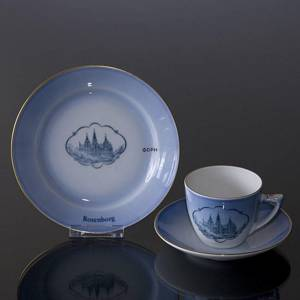 Castle Dinner set Cup and plate with Rosenborg, Bing & Grondahl