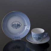 Castle Dinner set Cup and plate with Kronborg, Bing & Grondahl