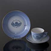 Castle Dinner set Cup and plate with Fredensborg, Bing & Grondahl