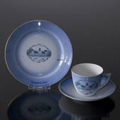 Castle Dinner set Cup and plate with Graasten Castle, Bing & Grondahl