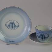 Castle Dinner set Cup and plate with Egeskov Castle