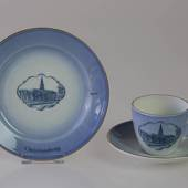 Castle Dinner set Cup and plate with Christiansborg Castle, Bing & Grondahl