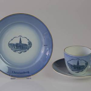 Castle Dinner set Cup and plate with Christiansborg Castle, Bing & Grondahl | No. DG1835-11 | DPH Trading