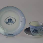 Castle Dinner set Cup and plate with Eremitagen