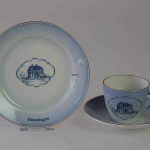 Castle Dinner set Cup and plate with Eremitagen | No. DG1835-12 | DPH Trading