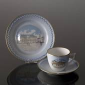Denmark Dinner set Cup (H.C.Andersens House) and Plate (Amalienborg)