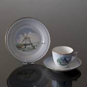 Denmark Dinner set Cup (Østerlars Church) and Plate (Dybbøl Mill)