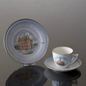 Denmark Dinner set Cup (Ebeltoft town hall) and Plate (Egeskov Castle), Bin...