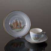 Denmark Dinner set Cup (Rosenborg Castle) and Plate (Kalundborg Cathedral),...