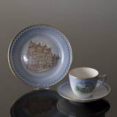 Denmark Dinner set Cup (Svallerup Church) and Plate (Jens Bangs Stonehouse)