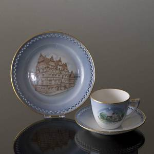 Denmark Dinner set Cup (Svallerup Church) and Plate (Jens Bangs Stonehouse), Bing & Grondahl | No. DG1836-08 | DPH Trading