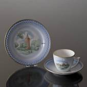 Denmark Dinner set Cup (Hammershus) and Plate (Gåsetårnet)