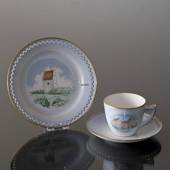 Denmark Dinner set Cup (Spøttrup Castle) and Plate (Skagens Church), Bing &...