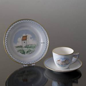 Denmark Dinner set Cup (Spøttrup Castle) and Plate (Skagens Church)