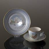Denmark Dinner set Cup (Round Tower) and Plate (Kronborg)
