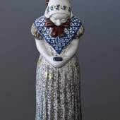 Woman with Hymn book, ceramics, no. 4418-3, Large, Michael Andersen & Son