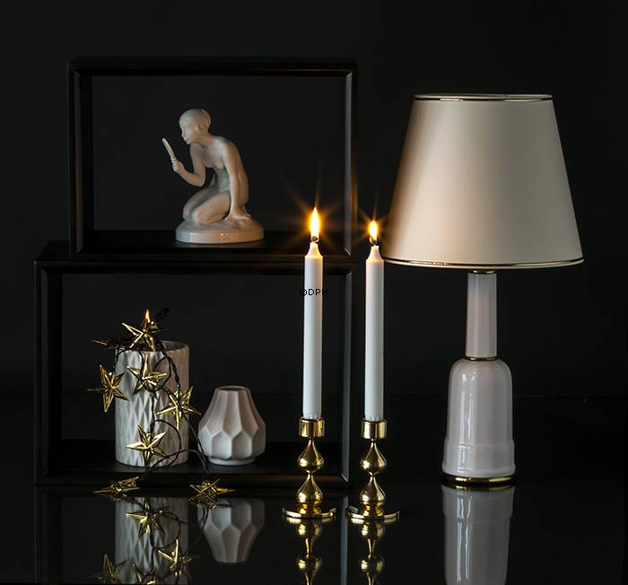 asmussen design Asmussen candlestick with 2 drops | No. dg2042 | Alt. 01 102 | DPH  asmussen design