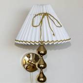 Asmussen Hamlet design wall lamp with 3 drops (Please note - Old lamp)