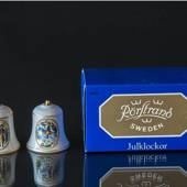 Rorstrand Christmas bell, motif no. 9 and 10, set of two