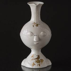 Vase or pitcher, Rosenthal, Studio-Linie, white with gold