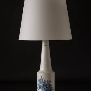 Royal Copenhagen Lamp decorated with blue cone white base F&M