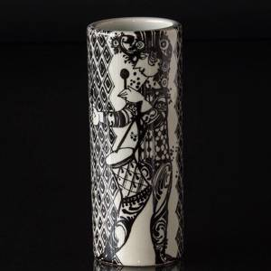Vase Bjorn Wiinblad Duet with Flute Player and Drummer | No. DG3247 | DPH Trading