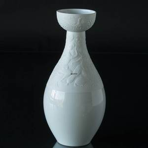 Vase Rosenthal Bjorn Wiinblad, White with Relief decoration
