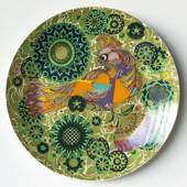 Wiinblad plate, Bird in many colours