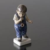 Boy with Pipe figurine Dahl Jensen No. 1027