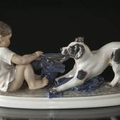 Boy with Dog figurine Dahl Jensen