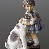 Girl with Dog figurine Dahl Jensen