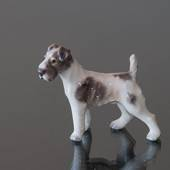 Dahl Jensen Dog figurine Wire Haired Fox Terrier No. 1118
