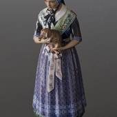 Dahl Jensen figurine no. 1144 Havdrup Girl in national costume