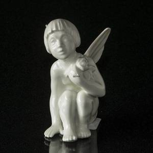 Angel/Cupid with rose, figurine Dahl Jensen No. 1163 | No. DJ1163 | DPH Trading
