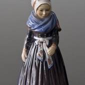 Dahl Jensen figurine Fanoe Girl standing in Regionall Costume, Height 18,5 ...