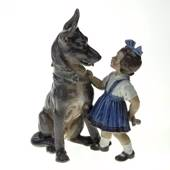 Girl with dog Dahl Jensen figurine