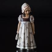 Girl Hanne with Dress, Dahl Jensen Figurine