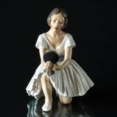 Ballerina with mirror figurine Dahl Jensen